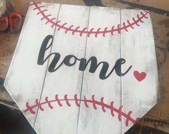 Home baseball sign