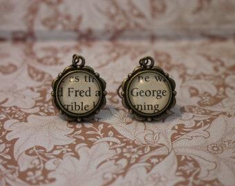 Fred ~ George Earrings ~ Harry Potter ~ Weasley ~