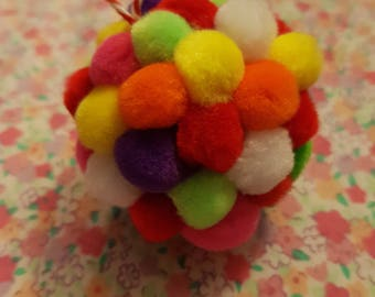 Small pom pom Christmas baubles