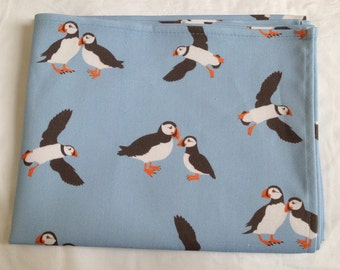 Puffin tea towel - puffin kitchen towel - puffin print - in 100% cotton