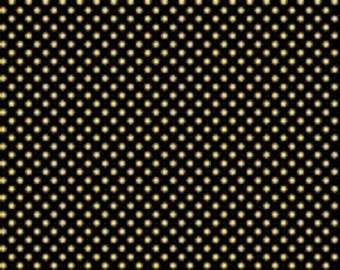 Studio E Pearle Gold Polka Dot Fabric