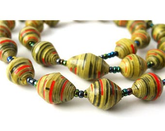 Rainbow Coloured Necklace   Large Coloured   Summer Jewelry   Jewelry Necklace   Gift for Her   Simple Necklace   Eco Jewelry   Funky