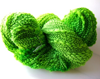 Wool Boucle - Electric Green
