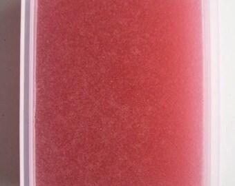 8 oz of Flamingo paradise, scented like strawberries.