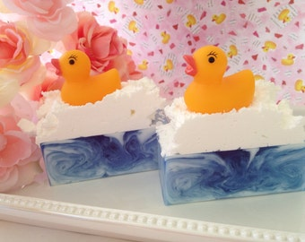 Rubber Ducky Soap- Easter soap, handcrafted glycerin soap, soap for kids, baby shower favor
