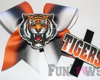 New Original FunBows design - have three bows in one - Customize to your team Cheer Bow  !
