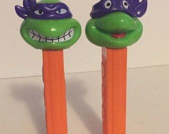 Vintage Teenage Mutant Ninja Turtles Pez Dispensers TMNT Lot Donatello angry happy