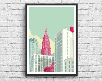 Art-Poster 50 x 70 cm - Chrysler Building New York Avenue