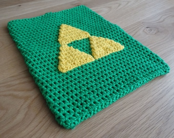 Zelda Cover for Macbook, Microsoft Surface, DS, 3DS, DS Lite Customised Notebook or Laptop, Hand Crocheted to Order in Australia