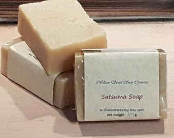 Handmade Natural Soap - Satsuma Soap - Vegan Skin Care - Handcrafted Soap - Sensitive Skin Soap - Palm Free Soap - Moisturizing Soap