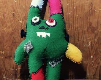 Plush, Stuffed Toy, Frankenbunny Handmade