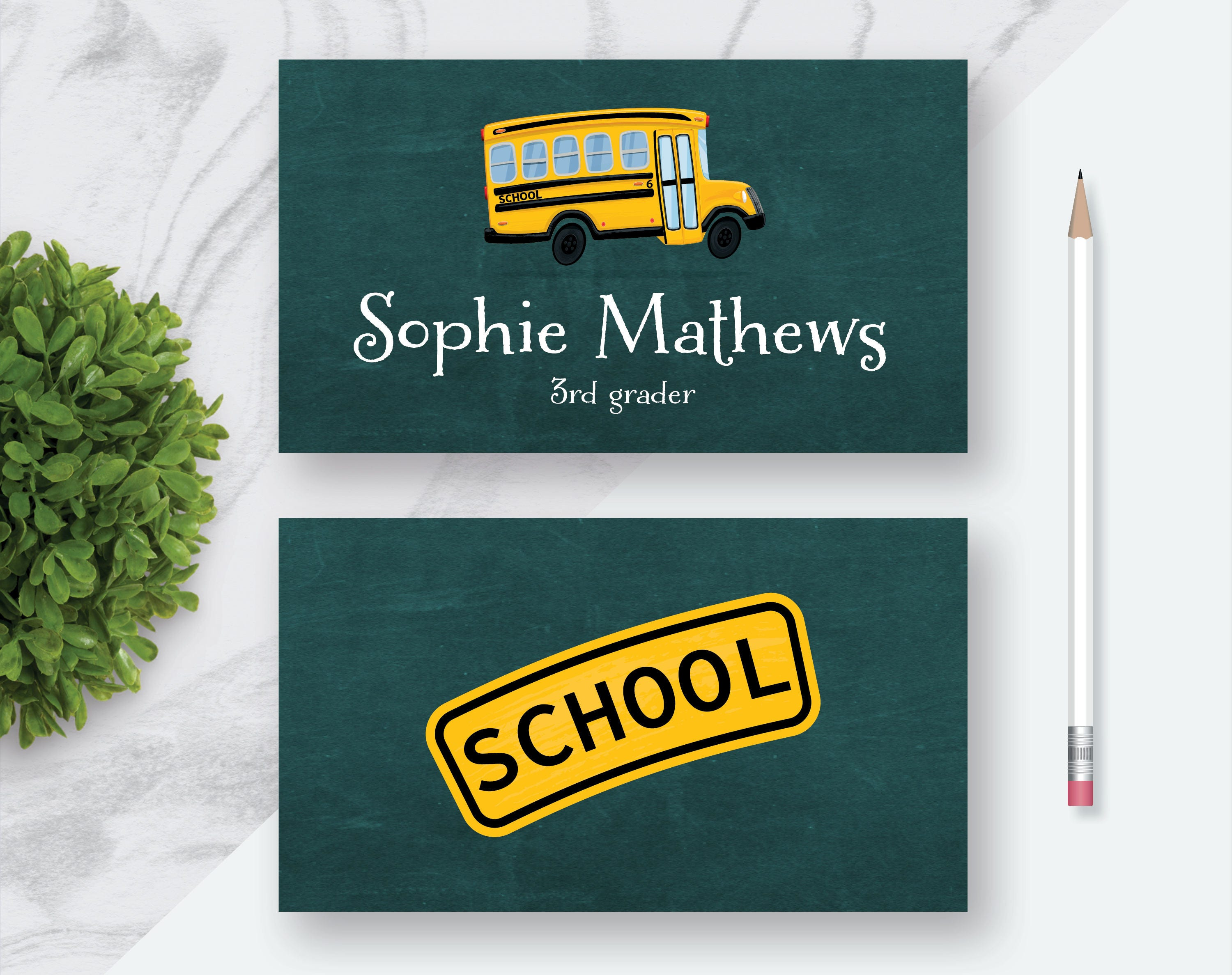 School Bus Personalized Custom Business Card Fun Business