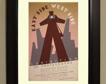East side west side photographs 1938 WPA Poster - 3 sizes available, one price.