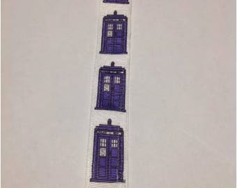 Baby Boy Girl Pacifier Clip Holder Leash Doctor Who Tardis British Police Box  Doctor Who Tardis British Police Box White