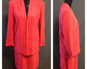 Vintage Christian Dior Red Summer Suit