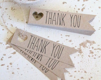 Rustic Thank You Tags Pk10