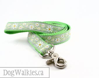 """Matching Dog Leash - Daisy - Dots - Camo - Aztec - Flowers - Fall - Colorful - 1"""" Wide - 25mm Wide - Matching Collar and Leash Set"""