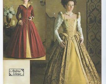 Simplicity 3782 (HH) - MISSES Elizabethan Costumes / Sizes 6, 8, 10, 12