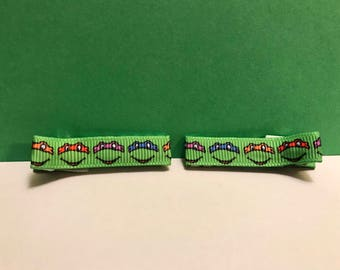 Ninja Turtles Hair Clip, TMNT Cartoon Lined Hair clips