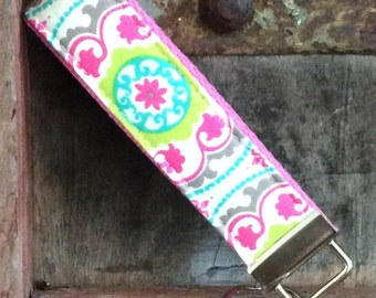 Key Fob-Keychain-Wristlet-Wrist Key Chain-Shelley on Bubblegum
