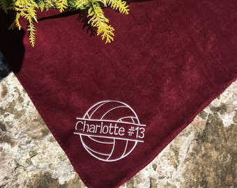 Volleyball blanket- Personalized Volleyball Fleece Blanket - Personalized  Name - Custom Embroidered - Many team
