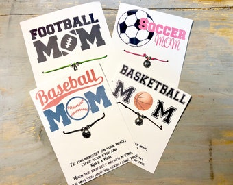 Sports mom wish bracelet-Soccer mom bracelet-Football mom bracelet-Basketball mom bracelet-Baseball mom bracelet-sports gift
