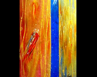 ORIGINAL ABSTRACT large oil painting for sale canvas modern fine art romantic designer art Title Starlight Journey by Artist Carol Lee
