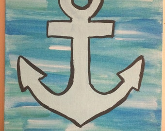 items similar to anchor painting initial or monogram added on etsy