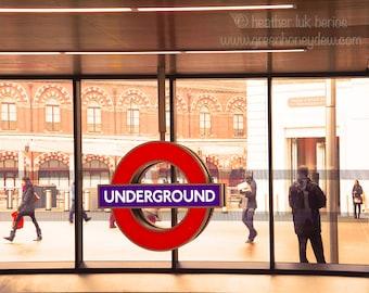 London Underground - Fine Art Contemporary Photography Print, England Subway Metro St Pancras Kings Cross Station