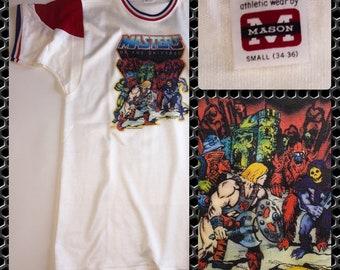 80s He-Man MOTU Mattel Masters of the Universe Cartoon Skeletor 1984 Castle Greyskull Original vintage Tee UNUSED Sz Small T-Shirt