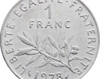1978 One Franc France Coin
