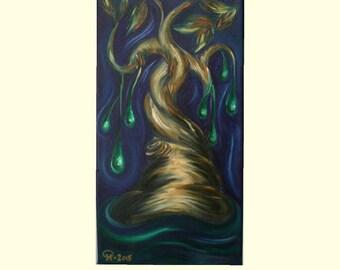 Original tree oil painting, Tree art, Canvas painting, Tree of life,  original painting, Oil painting, Painting on canvas, Tree painting
