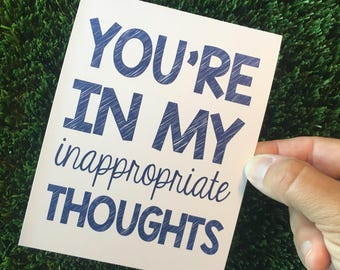 Funny I Miss You card - You are in my thoughts - funny thinking of you card