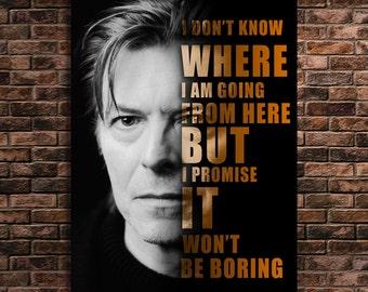 David Bowie Print Art Quotes Famous People
