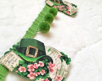 Banner St Patricks Day garland IRISH spring decor