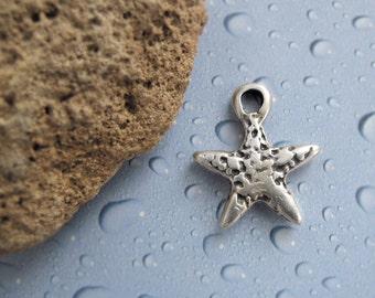 25%OFF Greek Mykonos Casting Starfish Pendant Silver Plated Beach Nautical jewelry craft supplies