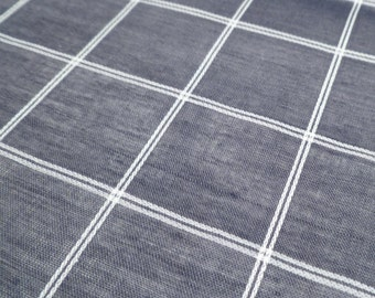 Sheer Checkered - Vintage Fabric - Rayon