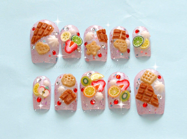Fake sweets deco nail Japanese 3D nail Japanese nail art