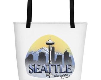 Seattle, Washington, Beach Bag