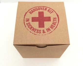 10 Hangover Kit Box - Bachelorette Favor Box - Survival Kit - Wedding Favor Box - Bachelor Favor Box - Emergency Kit Box