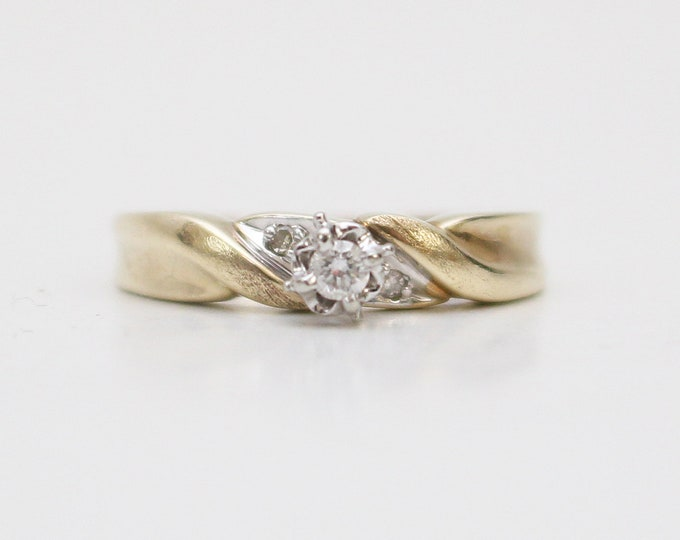 Vintage 1950s Diamond Engagement Ring - Size 6