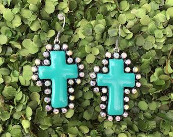 Cross Earrings metal