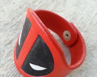 Deadpool Leather Cuff Bracelet
