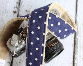 Camera Strap. dSLR Camera Strap. Linen Camera Strap. Polka Dot Camera Strap. Custom Camera Strap. Camera Neck Strap. Padded Camera Strap.