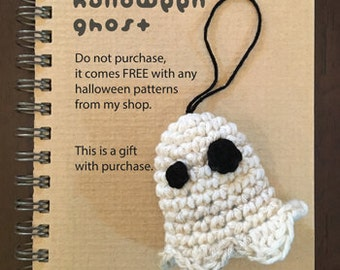 Halloween Ghost Amigurumi Crochet Pattern Funny & Scary Halloween Ghost Decorations Ideas or Toys. Do not purchase, it is Gift with Purchase