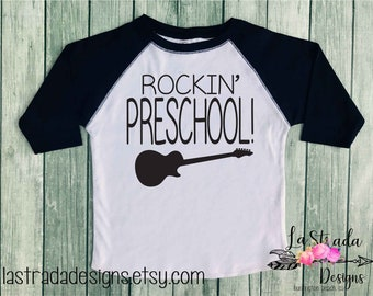 Pre-K Shirt/Preschool Shirt/First Day of School/Baseball Tshirt/Heathered Black Sleeves/Heathered Grey Body/Raglan Shirt/