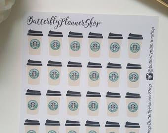 Coffee to go stickers sticker for personal calendar