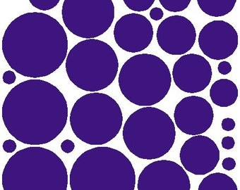 34 Purple Polka Dot Stickers Removable Polka Dot Wall Decals