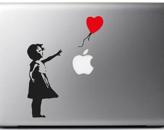 Stickers decal BANKSY BALLOON GIRL  suitable for Mac - MacBook pro air 11, 13, 15 and 17''