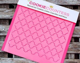 Small Quatrefoil Cookie Stencil, Sugar Cookie Stencil, Quatrefoil Fondant Stencil, Cookie Countess Cookie Stencil, Damask Stencil
